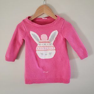 Gymboree 6-12 month Easter bunny sweater dress